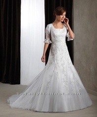 Aubree TOTALLY MODEST # 1 choice for Modest Wedding Dresses with sleeves, Bridesmaids and Prom