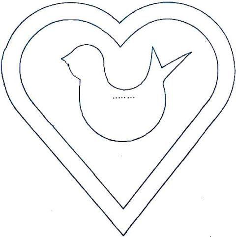 Imagini pentru sablon sub forma de inima