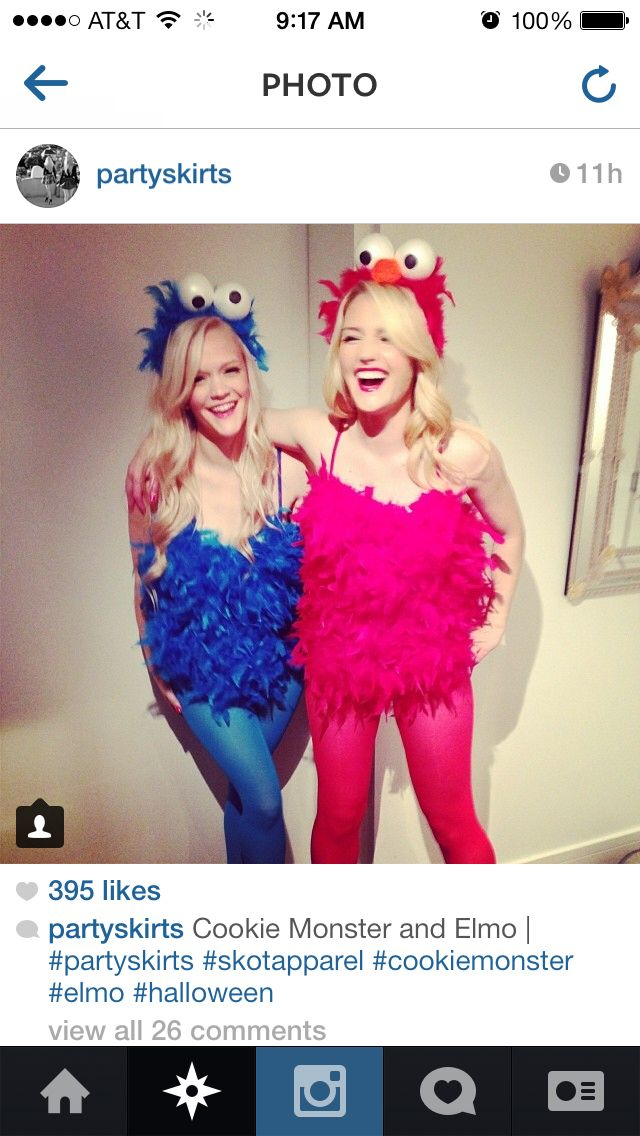 cookie monster and elmo best friend costume ideas - Best Friends Halloween Ideas
