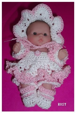 98 best images about Crochet Doll Clothes Berenguer on Pinterest Dress set,...