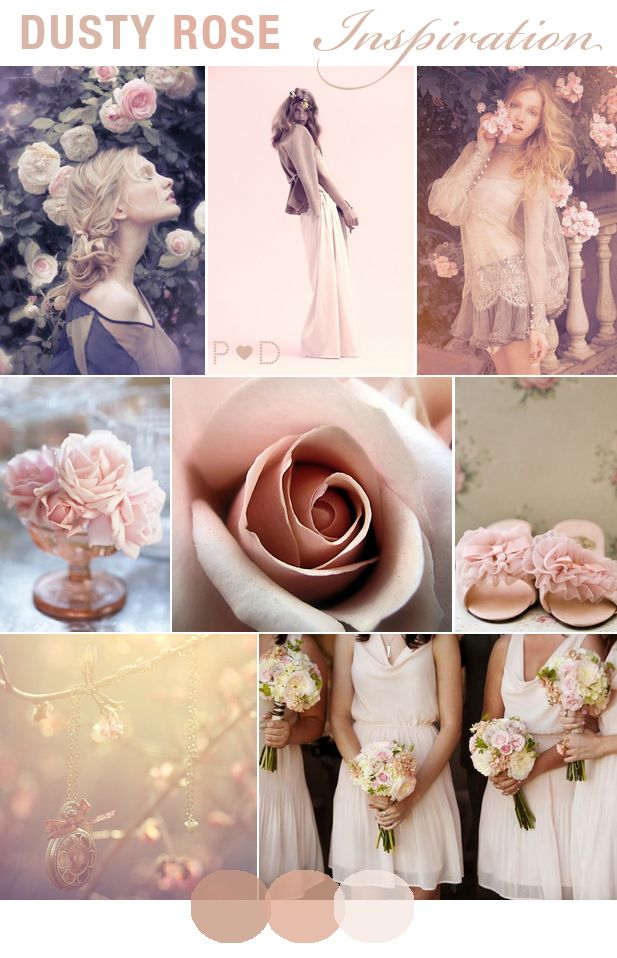 #Dusty #Rose, dusky #pink, #pale pink, #Wedding # ...