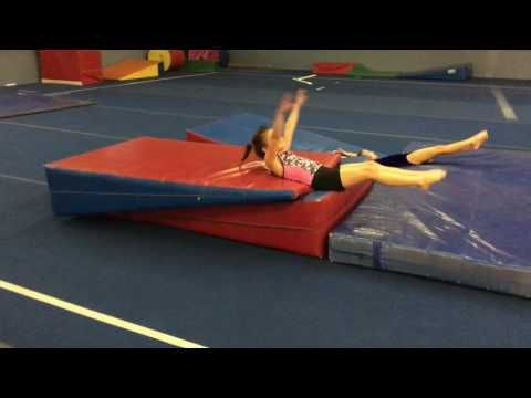Preteam handstand flatback and backhandspring drill - YouTube