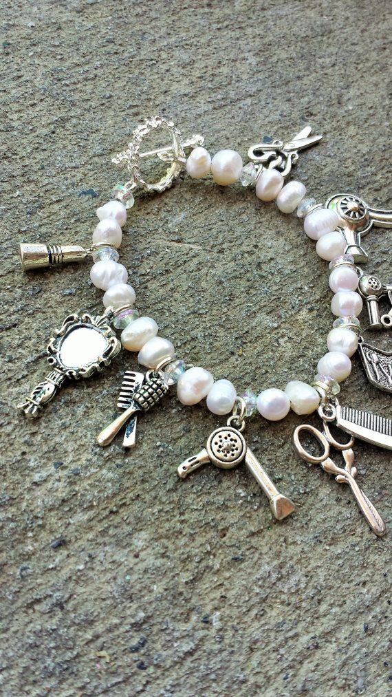 Cosmetologist/Sylist Charm Bracelet with Water by BambinoGifts