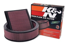 A K & N air filter is a no brainer. It filters the air better than a paper filter, improves flow and lasts for the life of my jeep.  http://www.autoanything.com/air-filters/kn-air-filters