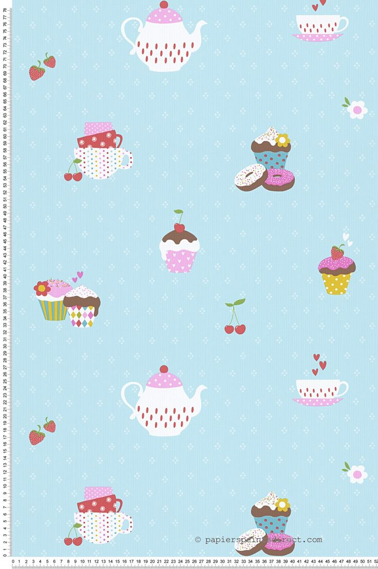 Cupcakes turquoise - Papier peint Collection Boys and girls 5 d'AS Création