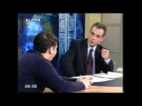 """Απόσπασμα της εκπομπής """"Πανόραμα"""", 2001, με τον Γιώργο Οικονομέα στον τηλεοπτικό σταθμό """"ΣΚΑΪ"""". Καλεσμένος, μεταξύ άλλων, ο Μάριος Κουτσούκος."""