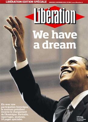 Une de Liberation - Election Obama