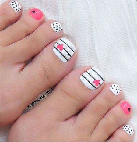 Valentine's Day Toe Nail Art Designs - 40 Best Valentine's Day Toe Nail Art Designs Images On Pinterest
