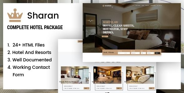 Sharan Hotel Resort Booking Template Rooms For Rent Hotel