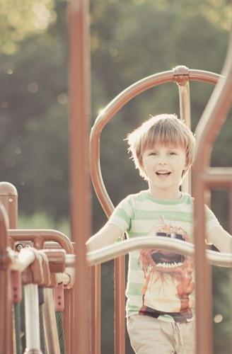 My little boy in September's sun