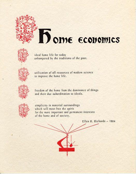 12 best images about vintage home economics on pinterest for Home economics