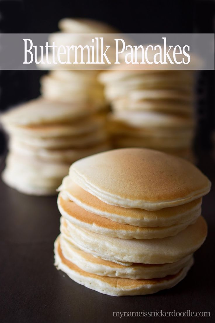 The best Buttermilk Pancake recipe!!!  This post give you the single recipe AND a recipe to make pancakes for a crowd!  Perfect for any breakfast.  |  My Name Is Snickerdoodle