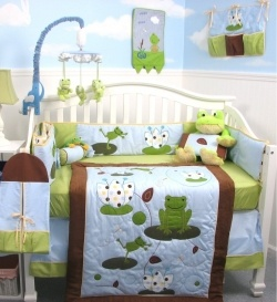 A frog nursery is super cute and so much fun to decorate. A crisp green frog nursery is a fresh change from the traditional blue or pink nursery....