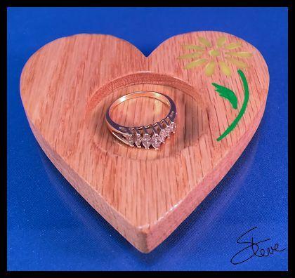 Scrollsaw Workshop: Sink Side Ring Dish with Polymer Clay inlay.