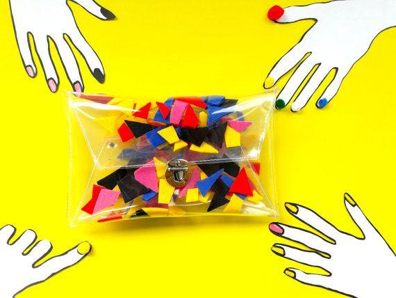 Geometric clutch vegan purse bauhaus bags evening by YPSILONBAGS