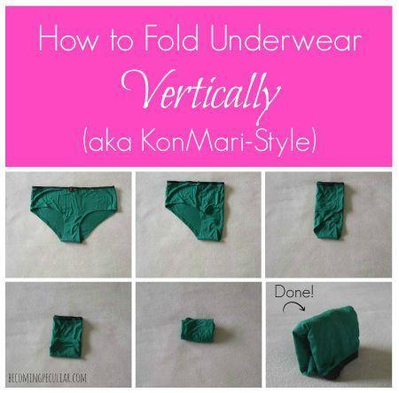 how to fold underwear the Konmari way