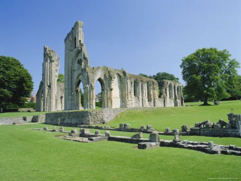 The Ruins of Glastonbury Abbey, Glastonbury, Somerset, England, UK Photographic Print by Christopher Nicholson at AllPosters.com