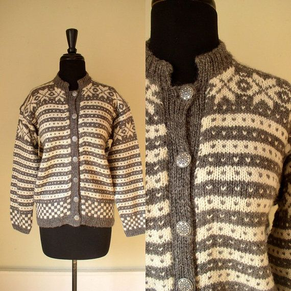 Vintage 1970's Norwegian Wool Sweater / 70's by OurTownVintage