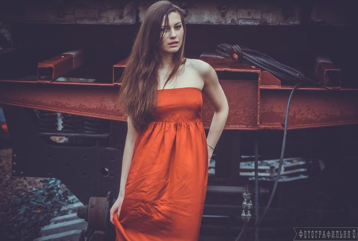 A girl in a red dress by Vyacheslav  Kolomeets on 500px