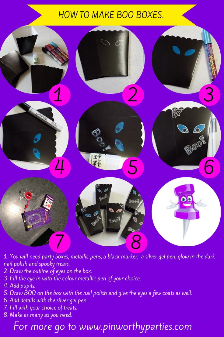 How to make fun Halloween or Friday the 13th party boxes. I call them BOO Boxes. Have fun, DIY Mum