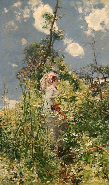 woman with a parasol . 1872 . giovanni boldini . unreal !