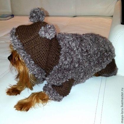 """Одежда для собак, ручной работы. Одежда для собак. Вязаные шубки """"Овечка"""". Наталья. Ярмарка Мастеров. Той-терьер, розовый"""