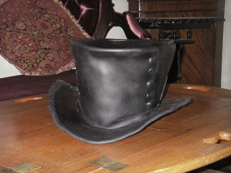 How to make a leather top hat!