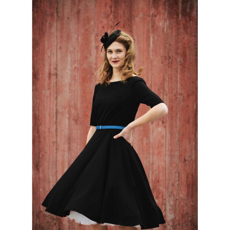 Retro+šaty+Femme+Veronique+Klasický+50s+střih+vhodný+pro+každou+postavu+Sluší+i+méně+výrazným+křivkám+Klasický+lodičkový+výstřih+Na+zádechlodičkový+výstřih+Velmi+pohodlná,+nemačkavá+látka+-+mírně+elastická+žoržet+Zip+na+zádech+Možné+ušít+i+zjiných+materiálů+a+vjiných+barvách++Lodičkový+výstřih+a+kolová+sukně+je+ta+pravá+klasika+podle+50....