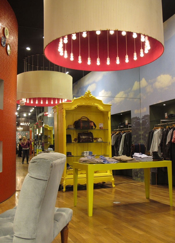 I am inspired by Ted Baker stores to paint my old furniture neon colors in a hi-gloss. Instant glam.