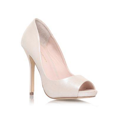 KG Kurt Geiger Champagne 'DREAMIE' High heeled peep toe court shoe- at Debenhams.com