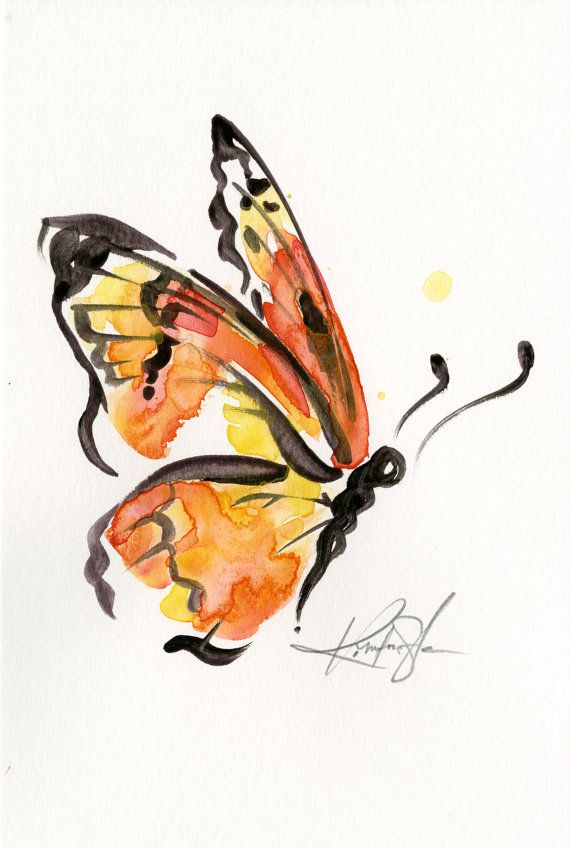 Brushstroke Monarch Nr. 7... Original von KathyMortonStanion