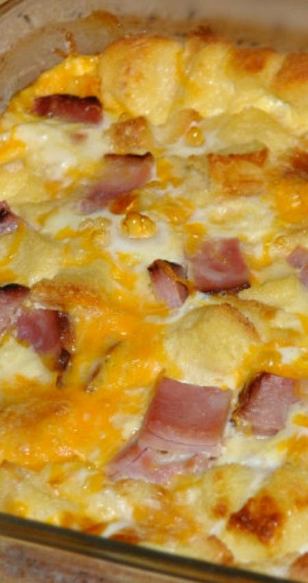 Baked Ham and Egg Casserole ~ Super easy, yummy, and make ahead!