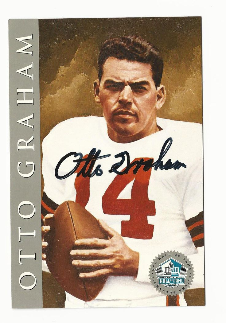 Otto Graham 1998 Football Hall Of Fame Signature Autograph Auto HOF Browns 2500 in Sports Mem, Cards & Fan Shop, Autographs-Original, Football-NFL, Trading Cards | eBay
