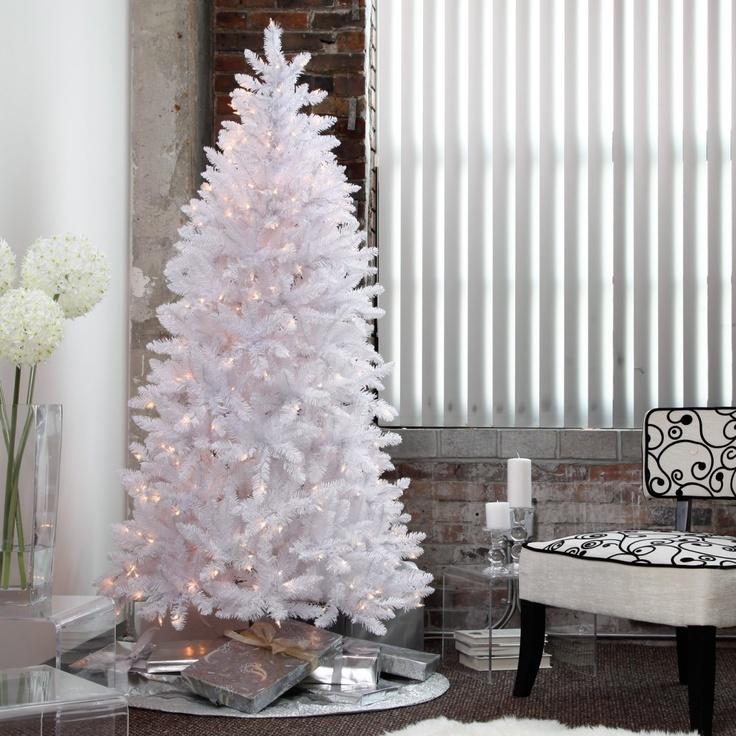 Best 25 Slim White Christmas Tree Ideas On Pinterest