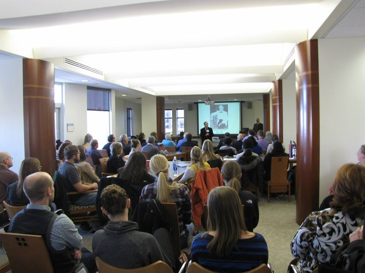 Great turnout at yesterday's #CUHSLibrary celebration of Vesalius' 500th birthday. Library Director Jerry Perry introduction of speakers and presentations.