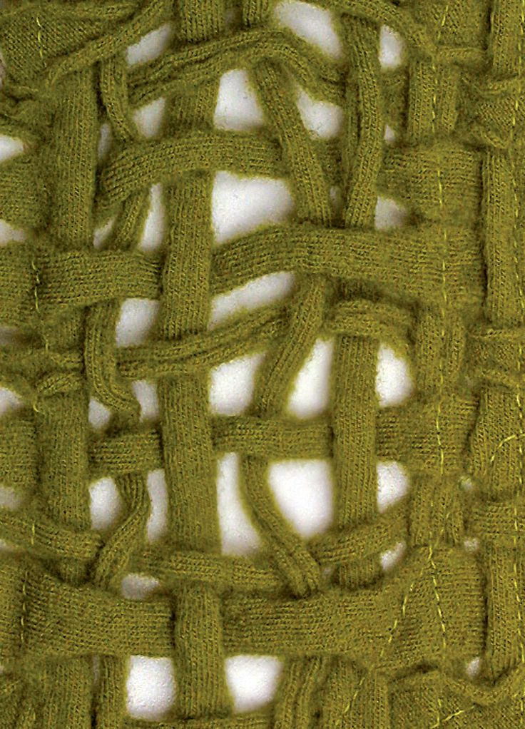 Woven jersey strips, would look nice as as scarf (site is for felting, but i'd forget that step)
