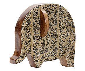 Elefante decorativo de madera