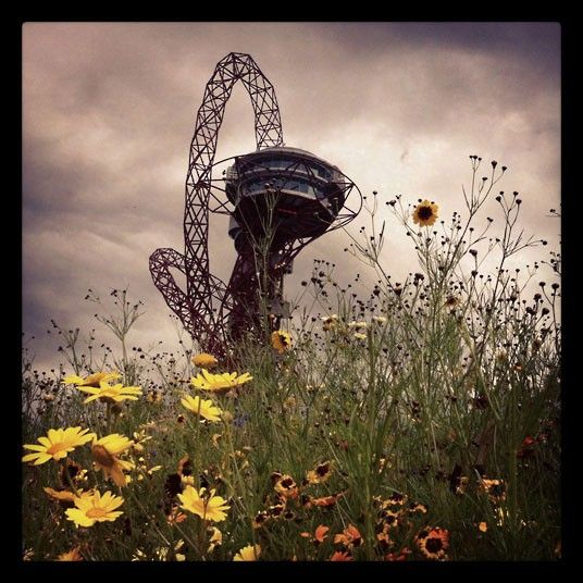 David Sim, the Telegraph's online picture editor, took this photo of the Orbit observation tower using Instagram, the popular iPhone app