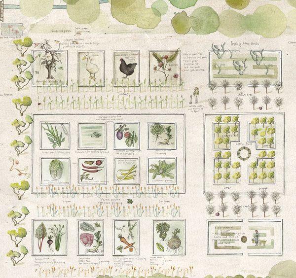 Babylonstoren garden map by Soil Design , via Behance