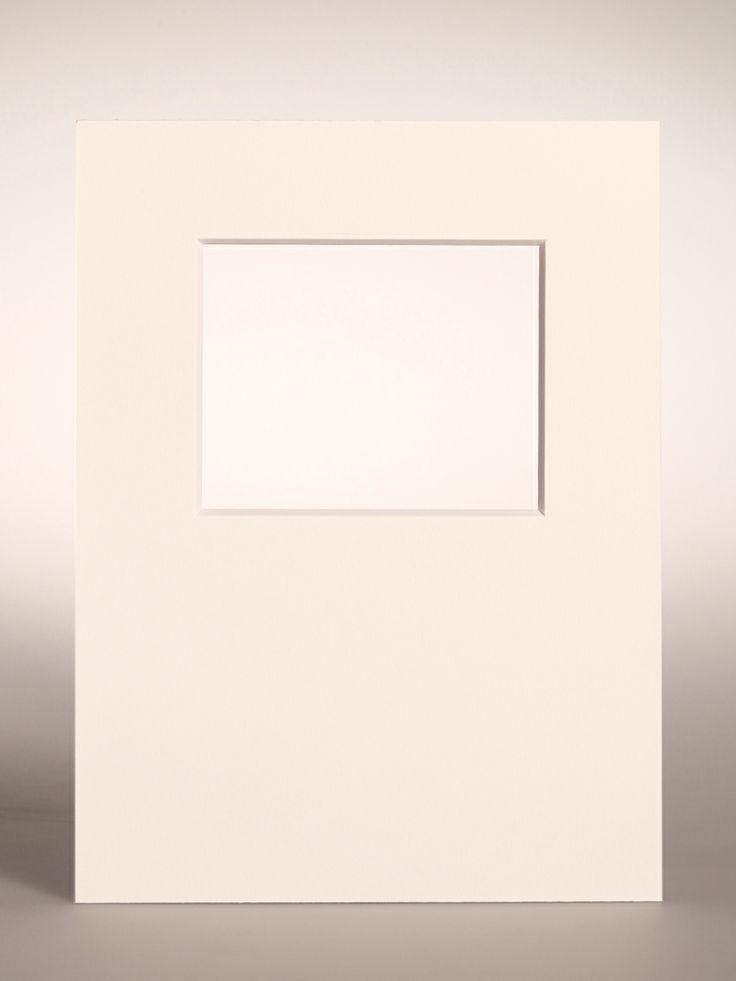 PASSEPARTOUT bianco 18x24 cm con foro decentrato orizzontale per Pellicola FUJI FP-100