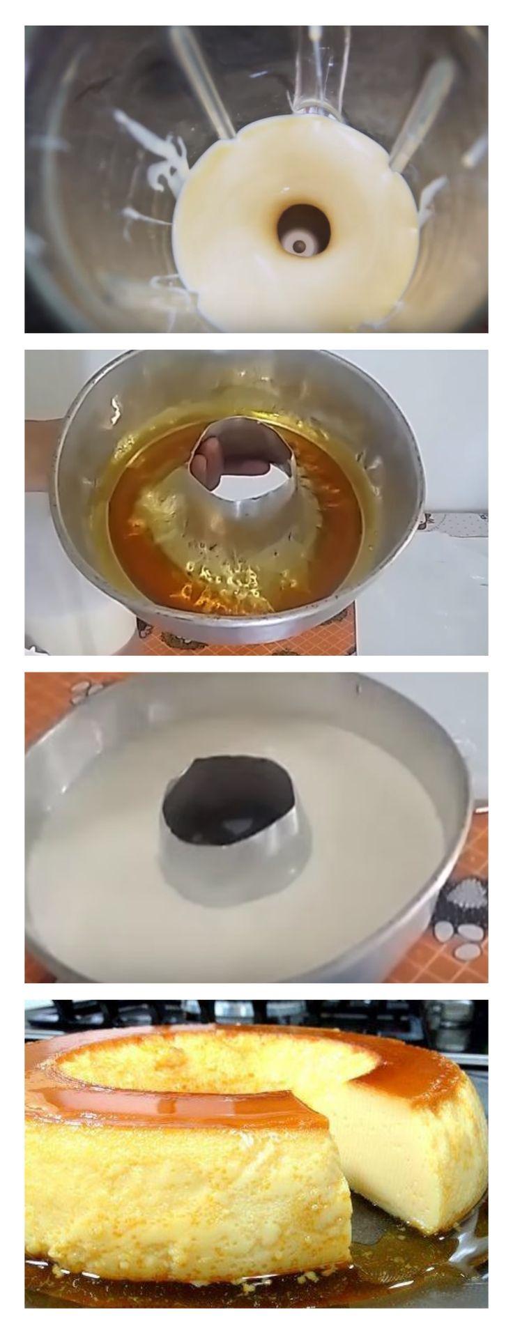 Pudim que não vai ao forno salve esse pin Dissolva a gelatina no leite e coloque no liquidificador #bolo#torta#doce#sobremesa#aniversario#pudim#mousse#pave#Cheesecake#chocolate