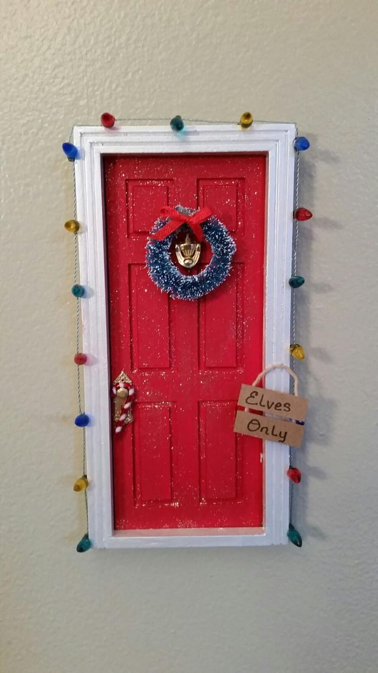 Christmas Elf Door/Tooth Fairy Door by TheCraftConnoisseur on Etsy
