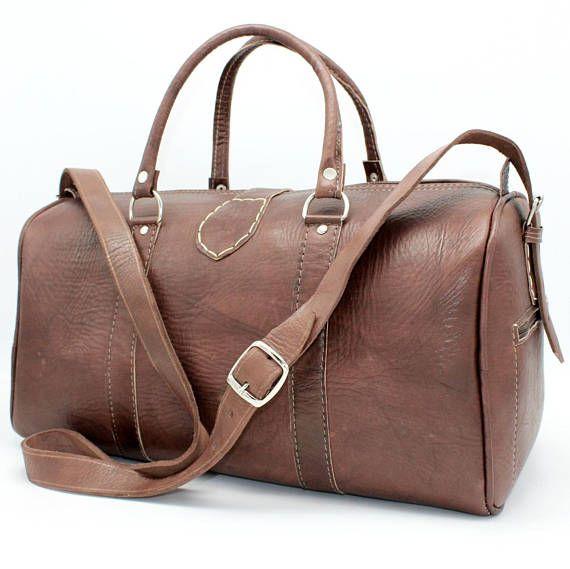 SALE Weekender leather backpack leather duffle bag