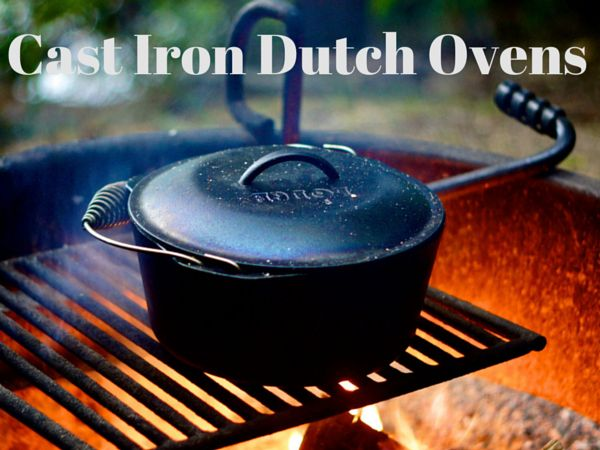 Lodge Dutch oven for camping  -  utch ovens are very popular and have worked their way into the American culture, both in the kitchen and the out-doors. Their versatility and robust properties make them a good addition to any family's arsenal of cooking utensils.  http://twokitchenjunkies.com/cast-iron-dutch-ovens/