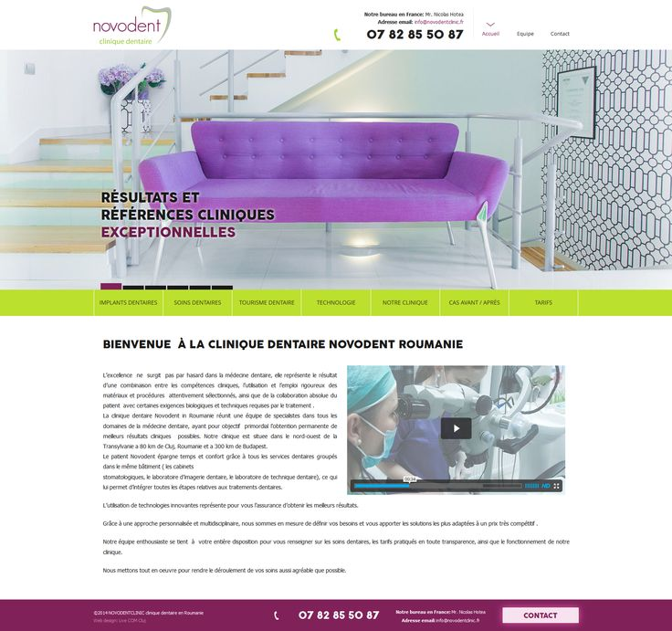 Novodent Clinique Dentaire - web design & development