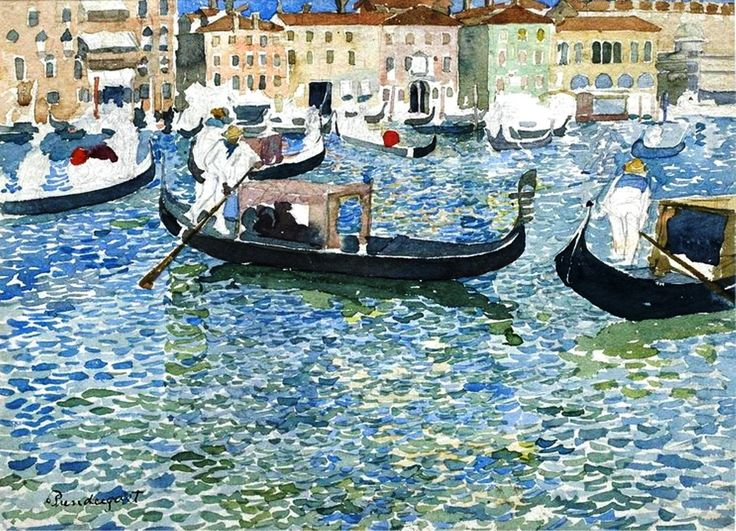 Maurice Prendergast   water-color painting Title<Grand Canal, Venice>