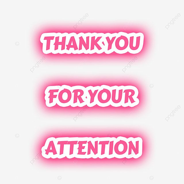 Pink Thank You For Your Attention Font Neon Glow Typography Thank You Card Design Neon Glow Thank You Card Template