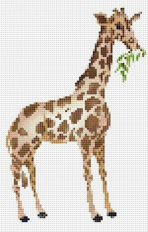 Giraffe and Zebra (cross stitch pattern)
