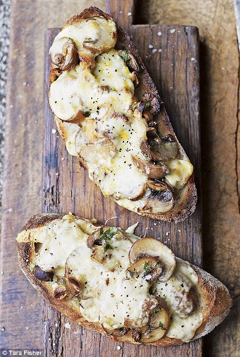 Grilled cheese, mushroom and hazelnut recipe. Grilled cheese is definitely one of our favourite guilty pleasures!