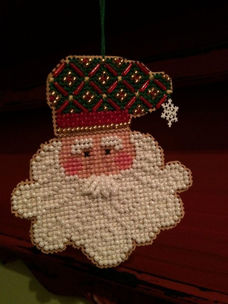 Petits points de croix pour Noël(broderie)